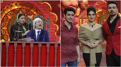 Aksar 2 team Zareen Khan and Gautam Rode join Bharti Singh and Anu Malik on Comedy Dangal