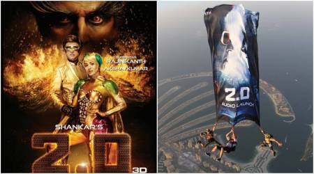2.0 poster: Rajinikanth and Akshay Kumar reveal their fiery gold side ahead of its audio launch. See photo