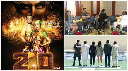 2.0, 2.0 poster, 2.0 rajnikanth, rajinikanth, akshay kumar, AR Rahman, s shankar, amy jackson, akshay kumar photos, 2.0 movie pics, 2.0 press meet dubai, pics, 2point0 audio launch, 2.0 movie dubai event images
