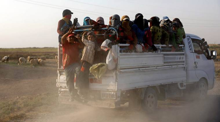 Syria, Syria war, displacement, refugee crisis, Coalition, Bashar al asad, Syria conflict,k coalition air strikes, ISIS, IS, Islamic State, World News, Indian Express