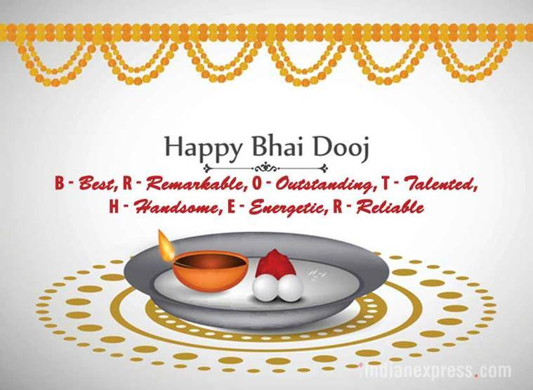 Happy bhai dooj 2017 wishes images whatsapp and facebook status happy bhai dooj designed by nidhi mishra indian express m4hsunfo