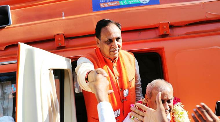 Vijay Rupani, Gujarat Government, Poll promises, Gurat assembly election, assembly election, Jobs, Promise of jobs, new seats, BJP, Congress, Poll Campaign, Poll rallies, narendra modi, Amit Shah, Indian Express