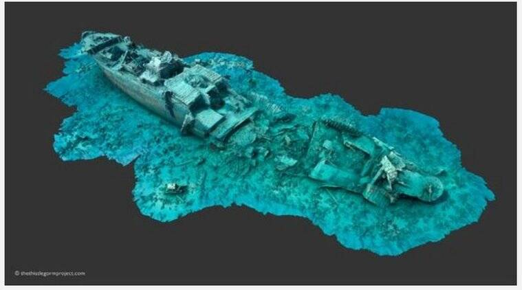 Online virtual reality experience recreates World War II shipwreck