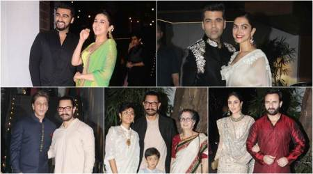Shah Rukh Khan, Kareena Kapoor, Deepika Padukone and others turn up for Aamir Khan's Diwali bash