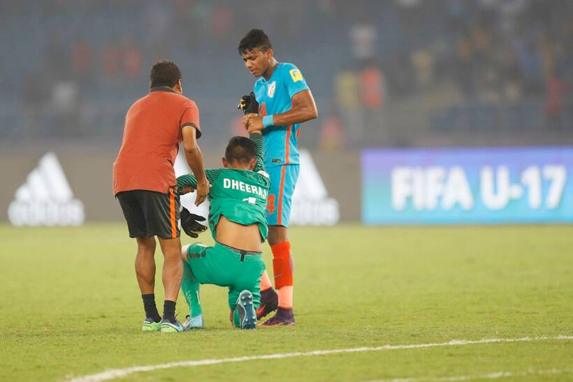 fifa u-17 world cup, u-17 world cup, india vs ghana, ind v gha, dheeraj singh, amarjit singh, eric Ayiah, football, sports, indian express
