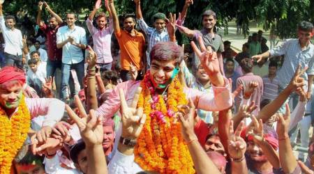 SP students' wing sweeps Allahabad University polls, bags top four posts