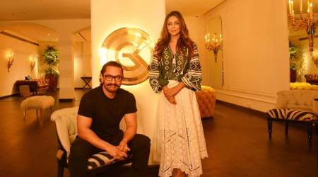 Secret Superstar actor Aamir Khan visits Gauri Khan's store. See photos and video