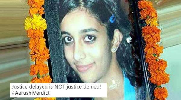 Aarushi murder case verdict, talwars acquitted, rajesh nuper talwar acquitted, aarushi verdict twitter, #AarushiVerdict, #Arushi, #Talwars, indian express, indian express news