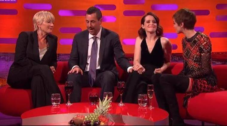 Adam Sandler slammed for repeatedly touching Claire Foy on ...