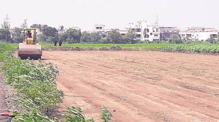 Agriculture college students object to cutting of crops for PM Modi helipad
