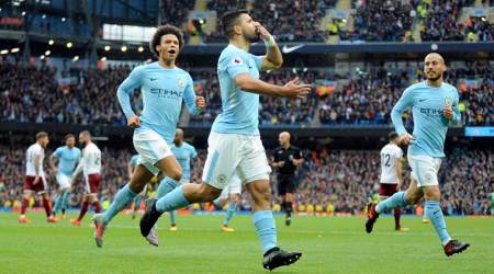 Sergio Aguero, Manchester City vs Burnley, Etihad stadium, Premier League