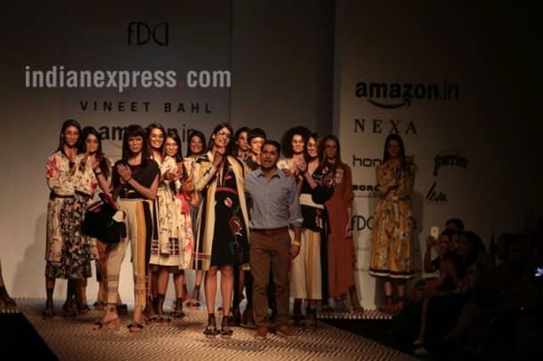 amazon india fashion week, amazon india fashion week 2017, amazon india fashion week 2017 dates, aifw 2017 day 2, amazon india fashion week dates, amazon india fashion week 2017 theme, aifw, aifw 2017, aifw nargis fakhri, aifw 2017 nargis fakhri, indian express, indian express news