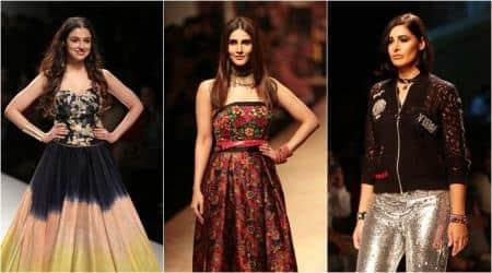 amazon india fashion week, amazon india fashion week 2018, aifw ss 2018 celebs, bollywood celebs aifw ss 2018, nargis fakhri, aifw abhay deol, aifw nidhhi agerwal, aifw ahana kumra, indian express, indian express news