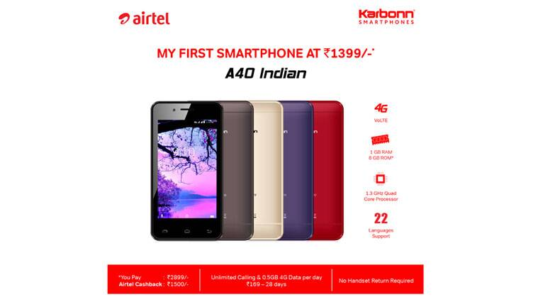 Airtel recharge, Airtel Karbonn a40 Indian Price, Airtel 4G phone price, Airtel, Airtel 4G Mobile, Airel Karbonn a40, Airtel Phone, Airtel Mobile, Airel Karbonn Offer, Karbonn a40 4G, Karbonn a40 Mobile, Airtel Mobile vs JioPhone, Airtel Karbonn vs JioPhone, JioPhone terms, Airtel phone terms