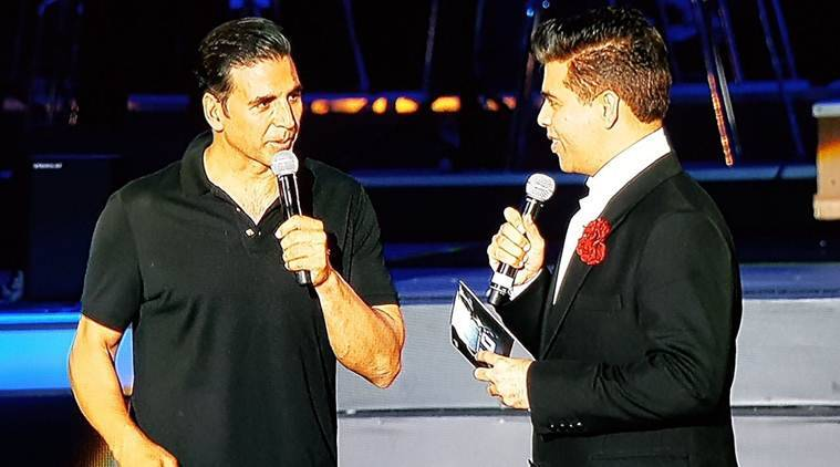 akshay kumar, 2.0 audio launch, karan johar