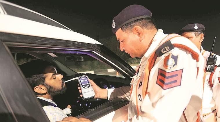 Chandigarh drunk driving, chandigarh traffic police, chandigarh traffic challan, chandigarh news, indian express news
