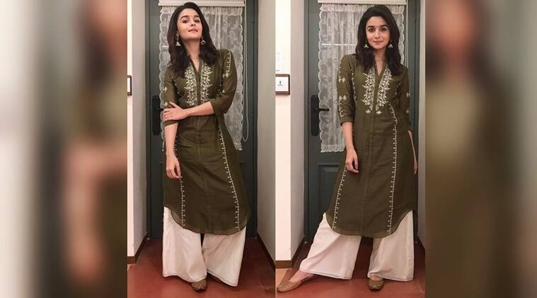 alia bhatt gets her festive fashion on point in an olive