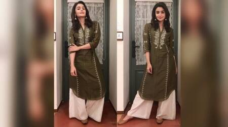 Alia Bhatt gets her festive fashion on point in an olive green kurta