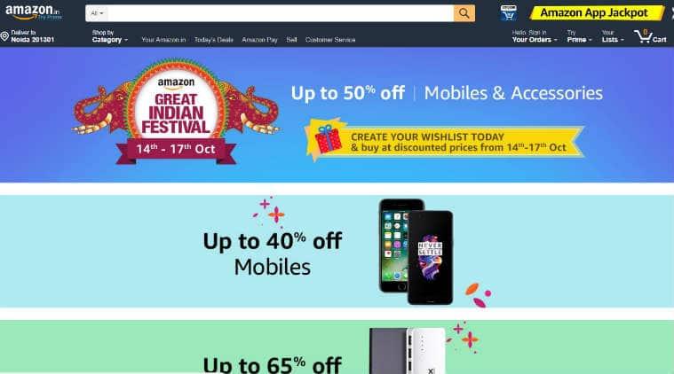 Amazon, Amazon Great Indian sale, Amazon Diwali Sale, Flipkart Sale, Amazon Sale 2017, Amazon Indian Sale, Amazon Diwali Sale 2017, Amazon Sale Today, Amazon Offers, Amazon Great Indian Diwali Sale, Amazon mobile discounts, Amazon smartphone deals, Amazon discounts smartphones, Flipkart Diwali sale, Amazon Oneplus 5 discount, OnePlus 5 deals, Apple iPhone 7 discounts