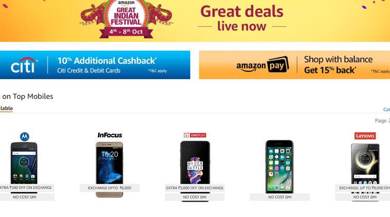 Flipkart, Flipkart Festive Dhamaka Days, Flipkart Diwali sale, Amazon, Amazon Great India Sale, Amazon Diwali sale, iPhone 8 discount, Flipkart iPhone discount, Redmi Note 4 discount, Apple iPhone deals, Flipkart discounts, Amazon smartphone deals