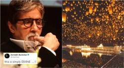 golden temple, golden temple lanterns, lanterns in the sky, fake golden temple picture, amitabh bachchan golden temple, indian express, indian express news