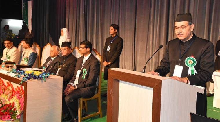 Pranab Mukherjee, AMU, Sir Syed Day, Aligarh Muslim University, Sir Syed Day chief guest, former president Pranab Mukherjee, Tariq Mansoor , AMU VC, Sir Syed Ahmad Khan, Sir Syed Ahmad Khan anniversary