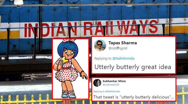 amul, railway ministry, railway ministry reply to amul, amul on twitter, amul business plan for railway ministry, railway ministry amul twitter reactions, indian express, indian express news