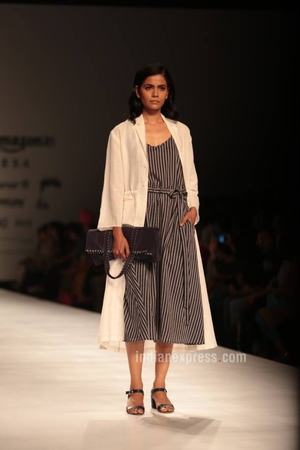 amazon india fashion week, amazon india fashion week 2017, amazon india fashion week 2017 dates, aifw 2017 day 2, amazon india fashion week dates, amazon india fashion week 2017 theme, aifw, aifw 2017, aifw nargis fakhri, aifw 2017 nargis fakhri, indian express, indian express news