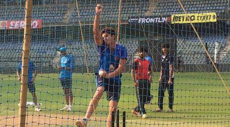 Arjun Tendulkar bowls to Virat Kohli and Co in the nets