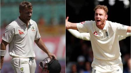 Ashes 2017-18, Stuart Broad, David Warner, Australia vs England, sports news, cricket, Indian Express