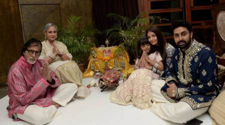 Photos: Amitabh Bachchan and family spent some quality time together on Diwali