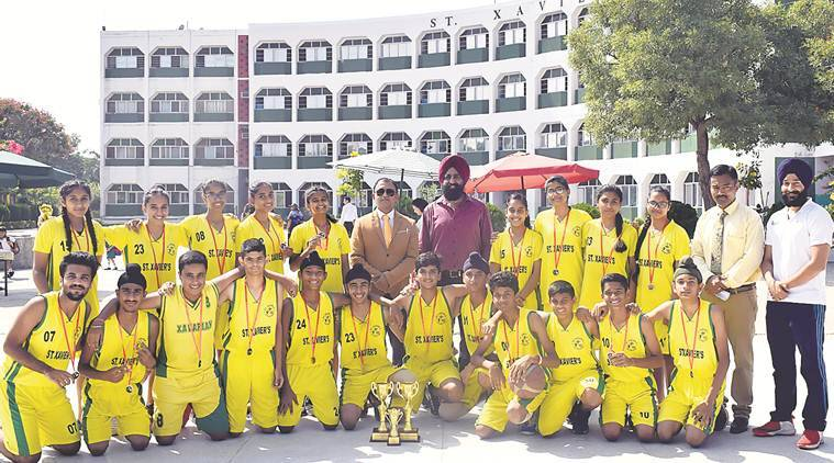 St Xavier's Senior Secondary School chandigarh, St Xavier's Senior Secondary School chandigarh basketball, St Xavier's Inter-School Basketball Tournament, chandigarh news, indian express