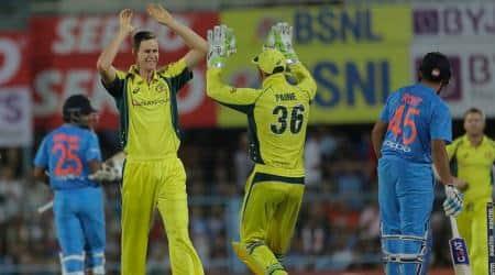 India vs Australia, Jason Behrendorff, Jason Behrendorf bowling, Jason Behrendorff wickets, Australia tour of India 2017, sports news, cricket, Indian Express