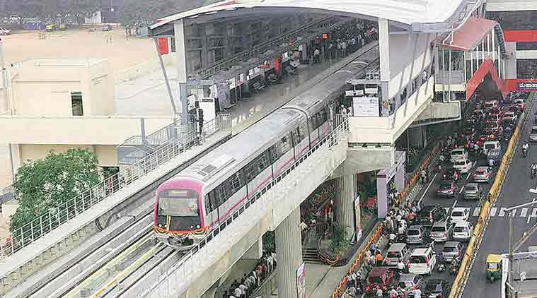 hyderabad metro, hyderabad metro launch, pm modi, K T Rama Rao, K Chandrasekhar Rao, Hyderabad Metro Rail, hyderabad news, latest news, indian express