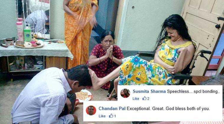 bhai dooj, bhai phonta, bhatriya ditiya, diwali celebratio, bhai dooj viral photo, disabled sis bhai dooj photo, bengal brother sister bhai dooj photos, viral news, indian express,