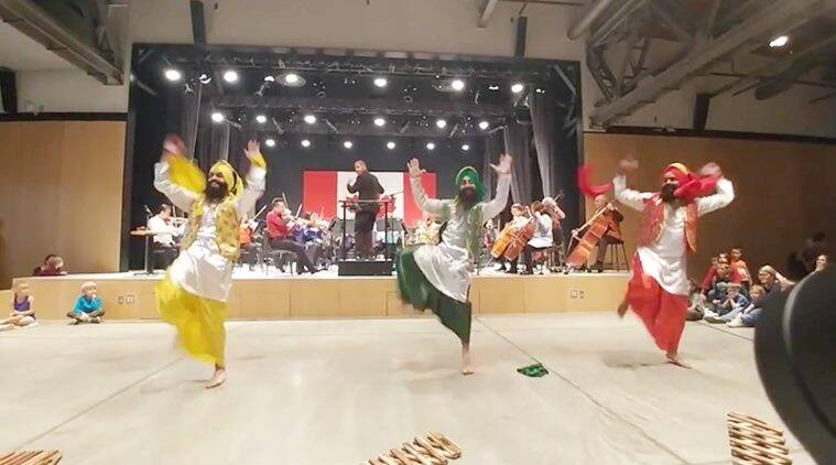 Bhangra, Bhangra videos, Bhangra with live band, Bhangra with live orchestra, orchestra music bhangra, viral videos, unique videos, funny videos, indian express, trending news
