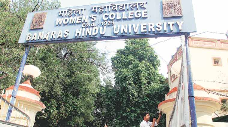 bhu, bhu students protest, bhu vc, banaras hindu university, bhu women safety, bhu sexual harassment, sir sunderlal hospital, bhu vc g c tripathi, bhu news, latest news, indian express