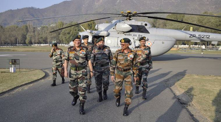bipin rawat, kashmir, army chief in kashmir, loc, bipin rawat srinagar, indian express, india news