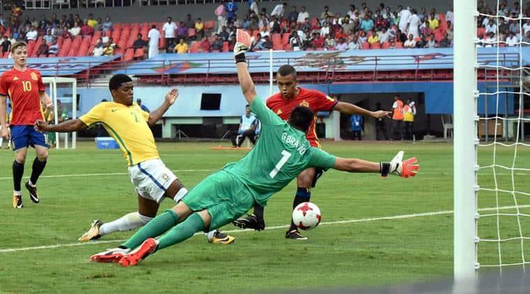 Brazil vs Spain, BRA vs ESP, FIFA u 17 world cup, fifa u 17 wc, football news, indian express