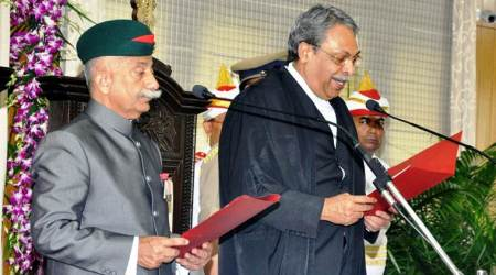 Arunachal Pradesh governor, Brigadier BD Mishra, BD Mishra, Brigadier Mishara takes oath, Arunachal governor takes oath, Arunachal governor oath taking ceremony, Gauhati High Court , Chowna mein, ARunachal government,