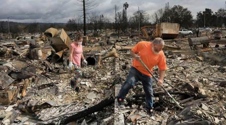 California, California wildfire, California homes gutted, California fire, wildfire in US, World news, Indian Express