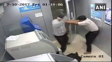WATCH: Goa ATM security guard suffers multiple blows to head, foils robbery attempt