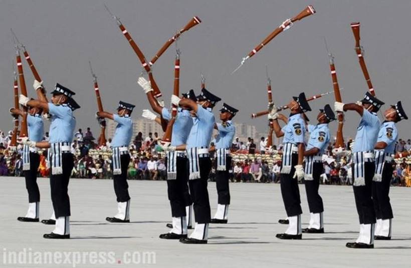 Air force Day, Air Force day rehearsal Photos, Air Force Day Photos, Air Force Rehearsals, Indian Air Force, Indian Air Force Day, Air Force Day celebrations, Air Force Photos, Indian Express