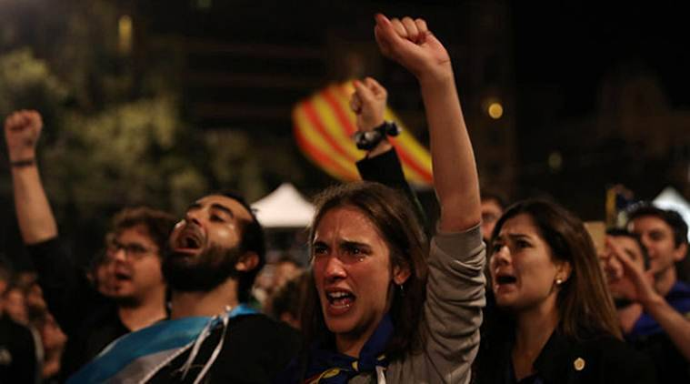 catalonia, catalonia referendum, catalonia vote, catalonia news, spain, spain police, catalonia independence, secession, free catalonia, world news, indian express