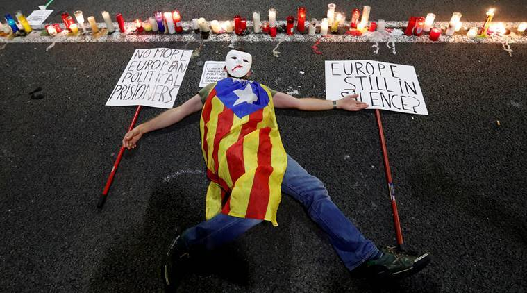 catalonia, catalonia independence, catalonia protests, catalonia freedom, catalonia issue, catatlans, barcelona, catalonia independence referendum, spain, world news, indian express news