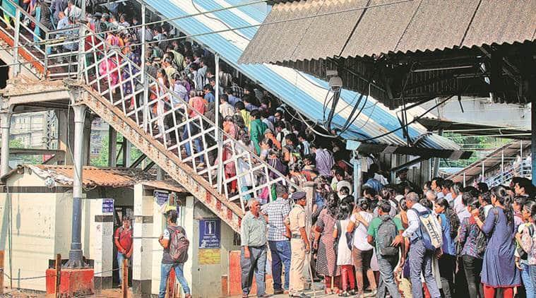 Mumbai locals, Mumbai local accidents, Indian Railways, Mumbai stampede,Elphinstone Road station stampede,Elphinstone Railway station stampede,Elphinstone foot overbridge, mumbai railway stampede, Devendra Fadnavis, Piyush Goyal, indian express
