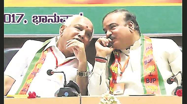 Yeddyurappa Anant Geete recording, discussing payments, corruption, BJP Corruption, Karnataka politics, BJP Congress, India News, Indian Express, Anant Geete,