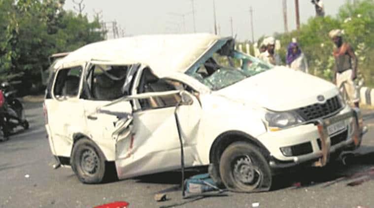 Galgotia University, Students killed, Delhi accident, road accident, traffic, India News, City News, Indian Express