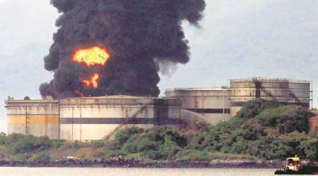 Butcher Island: Four days on, diesel tank fire continues to smoulder