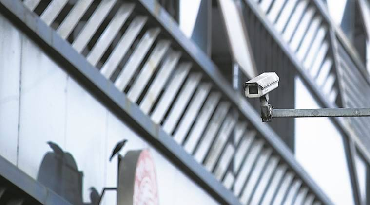 rohini court, cctv camera, indian express